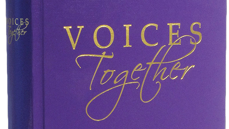 Image of the new Voices Together hymnal.