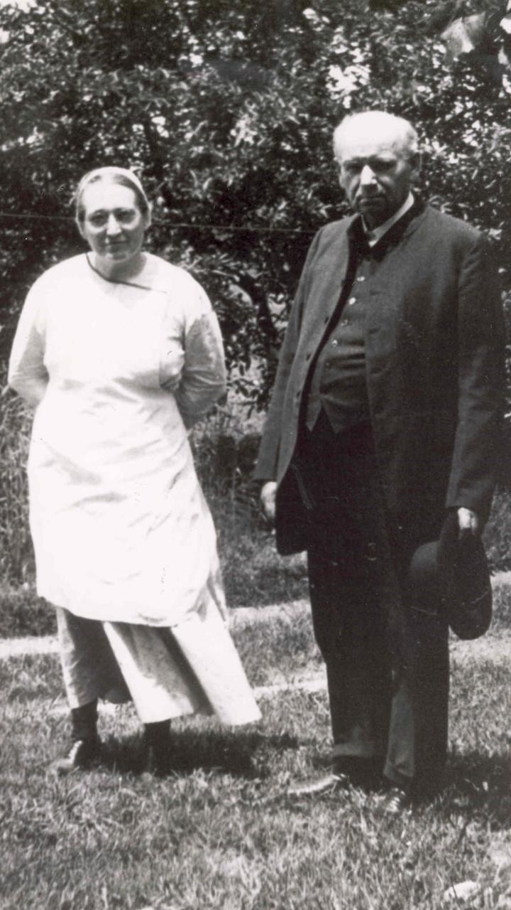Daniel Kauffman and wife Molly, 1933 — Mennonite Church USA Archives