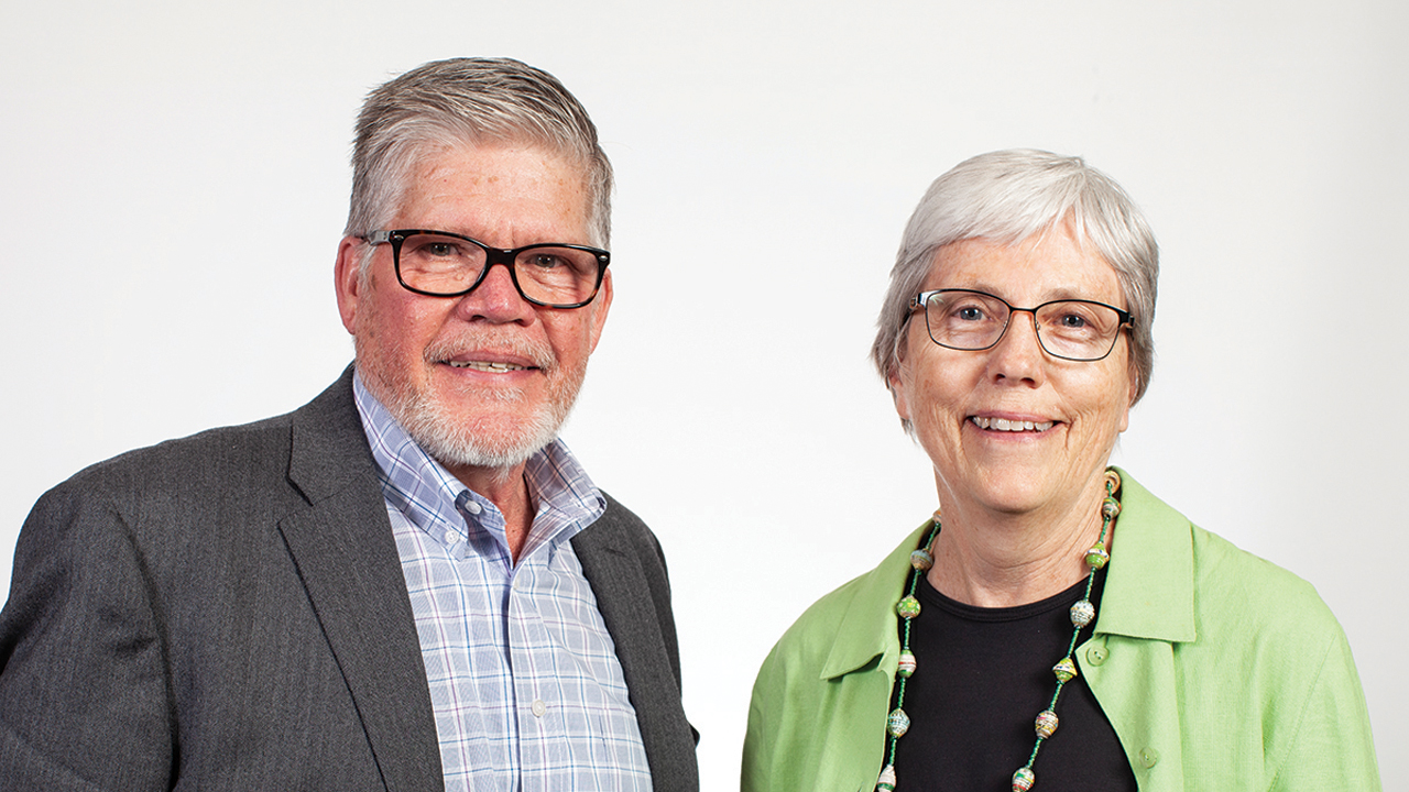 At MCC's centennial celebration Oct. 17, J Ron Byler will be recognized for his 10 years of service as executive director of MCC U.S., and Ann Graber Hershberger will receive a blessing as the next MCC U.S. executive director. — Brenda Burkholder/MCC