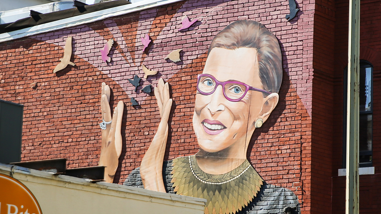 A mural of Supreme Court Justice Ruth Bader Ginsburg was painted on the side of a Washington, D.C., real estate group's building in the summer of 2019. — Chris Svetlik