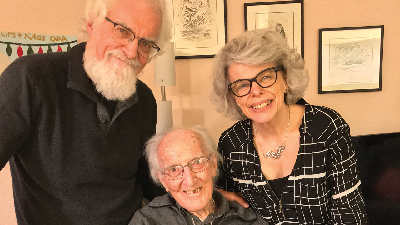 Rennie Regehr and his wife, Jenny, with Rennie's father, John. — Regehr family