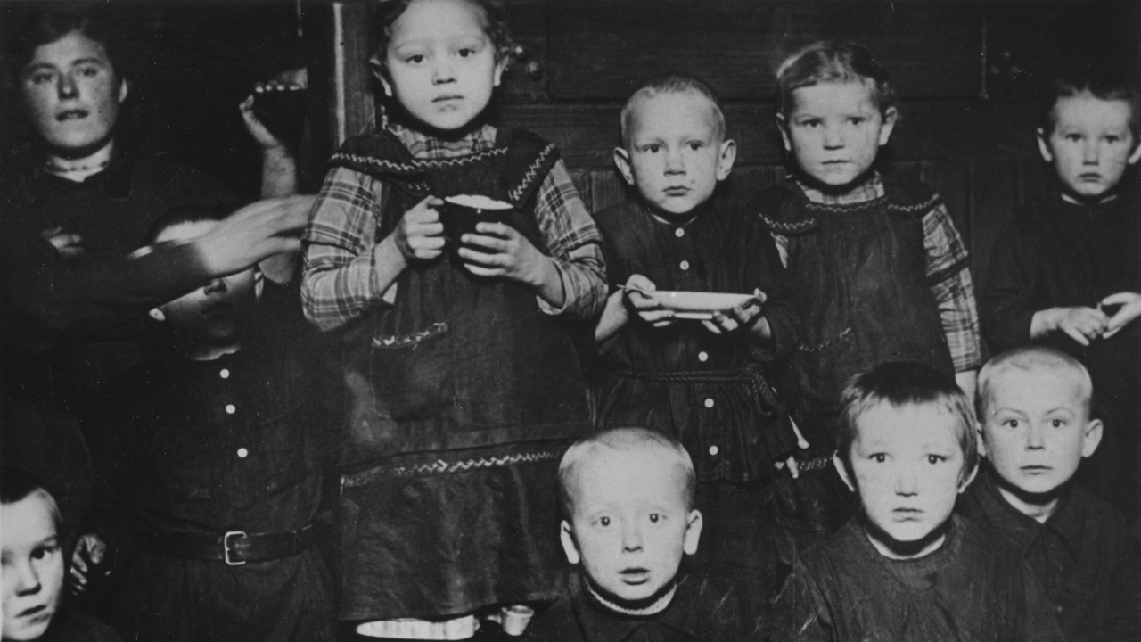 These children in southern Russia were among those who received food from MCC in the early 1920s. — Mennonite Central Committee