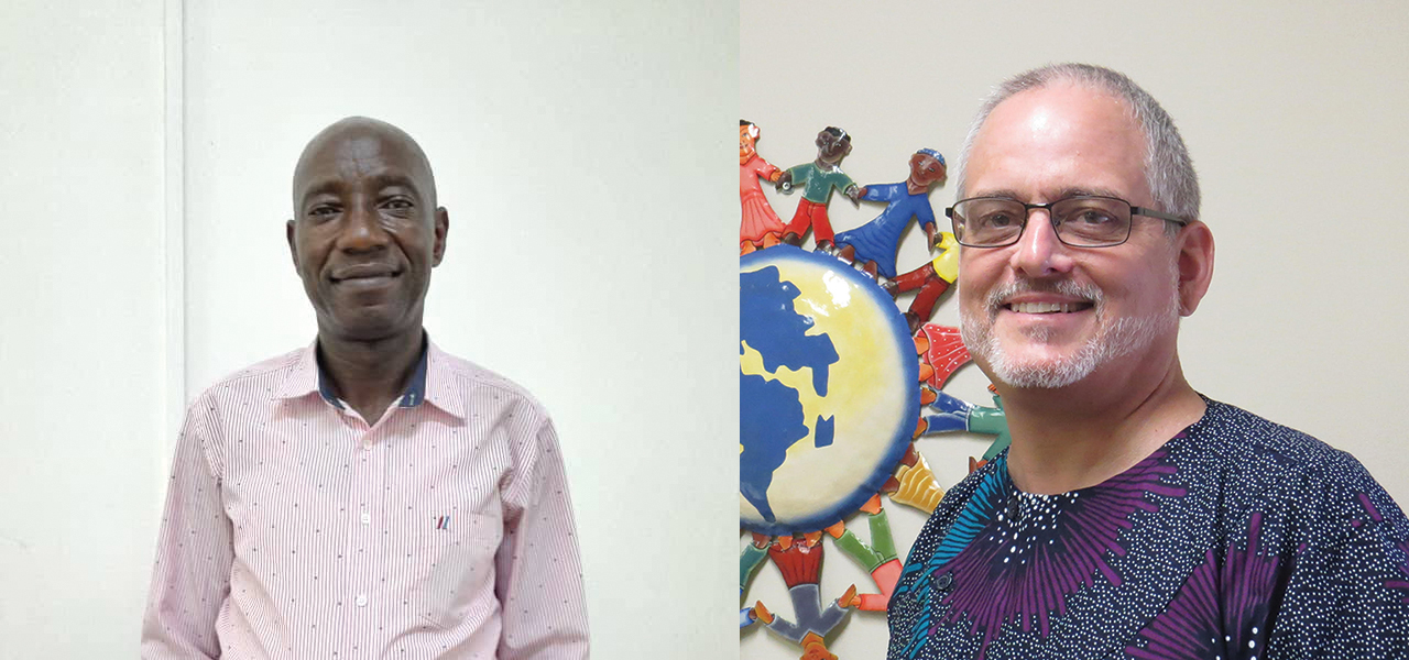 John Fumana, left, of the Democratic Republic of Congo and Bruce Yoder of Canada have been appointed to work as a team leading Africa Inter-Mennonite Mission as executive coordinators. — Africa Inter-Mennonite Mission