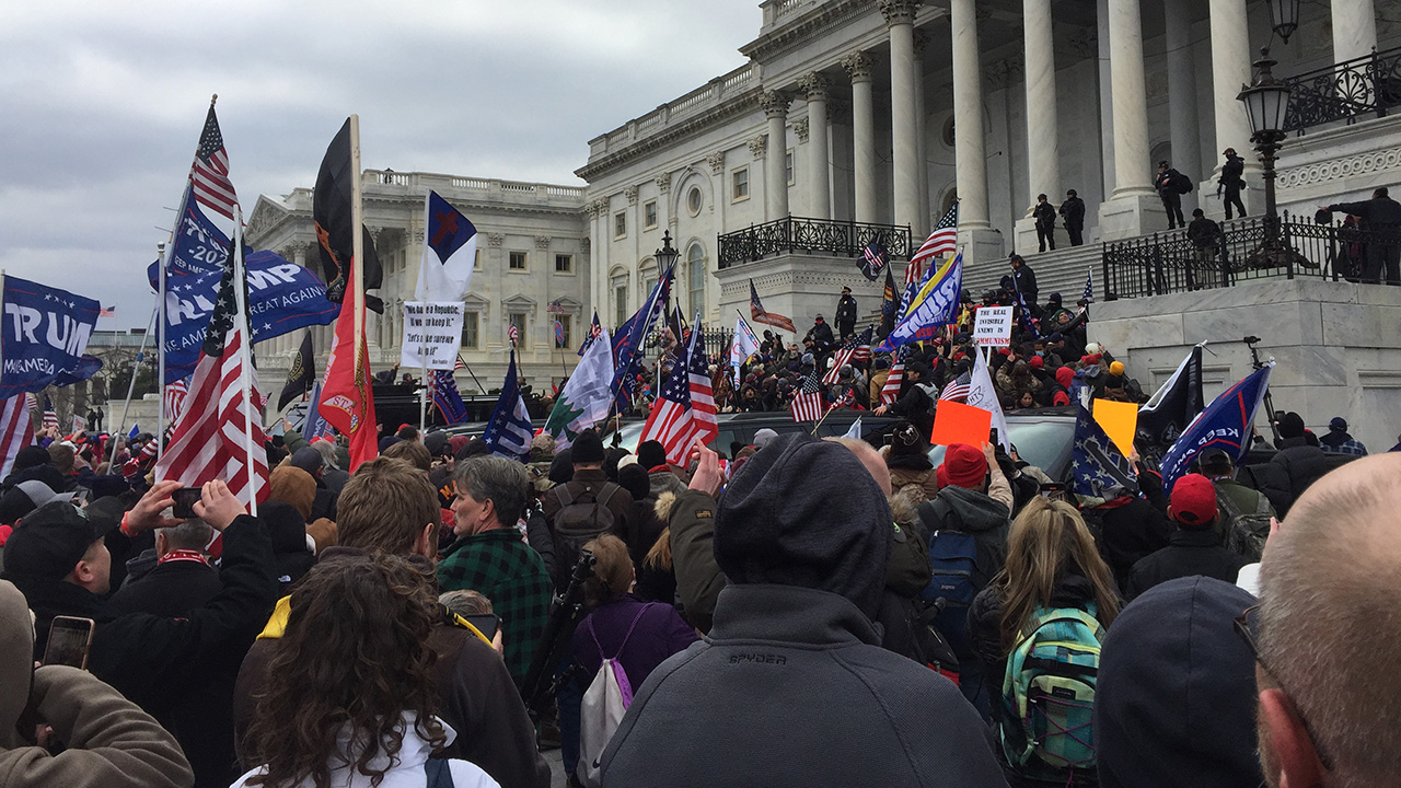 Trump supporters march on the U.S. Capitol Jan. 6. — TapTheForwardAssist via Wikimedia Commons