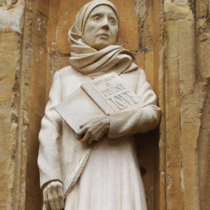 A statue of Julian of Norwich stands at Norwich Cathedral in England. — Wikimedia Commons