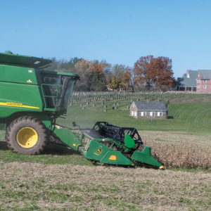 A field of soybeans was harvested this summer at Deep Run East Mennonite Church in Perkasie, Pa. — Ruth Cosand/Deep Run East Mennonite Church