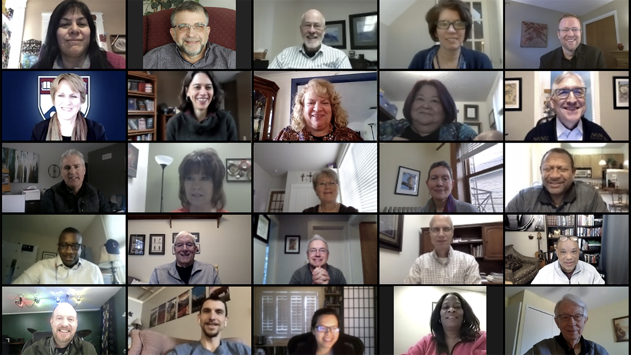 Members of the Mennonite Church USA Executive Board, denominational staff, agency leaders and guests met virtually Jan. 22-23. — Mennonite Church USA