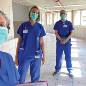 Nazareth Hospital's Covid-19 spiritual care team are Christine Farah, Rebecca Gueze, Lourens Geuze and Frank Kantor. — Nazareth Project