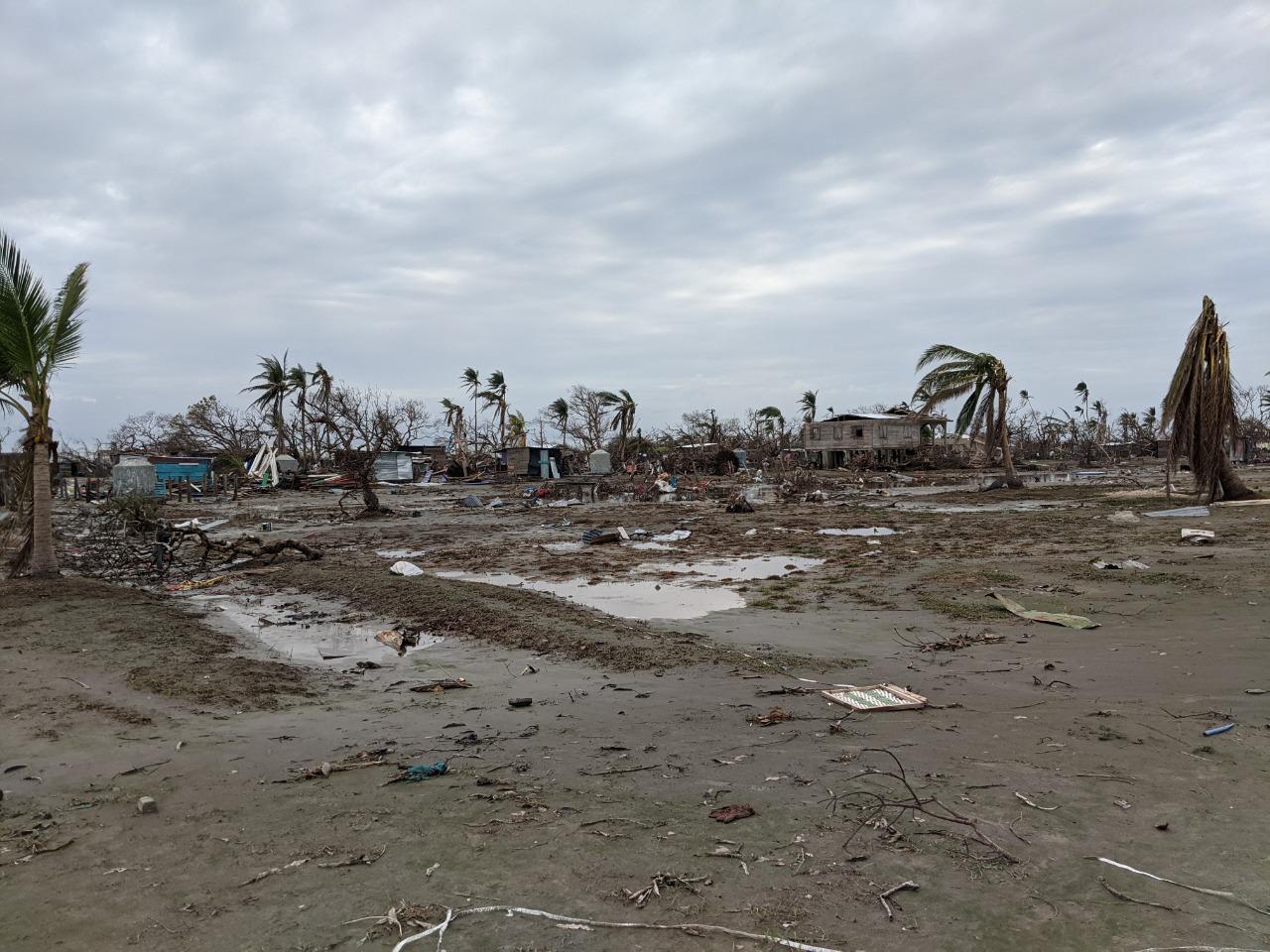 """Bilwi, Region Autónoma Costa Caribe de Nicaragua. Foto tomada por el equipo facilitador de """"Más allá del desastre"""" en su visita a la Region Caribe, después del paso del Huracán Eta y Iota."""