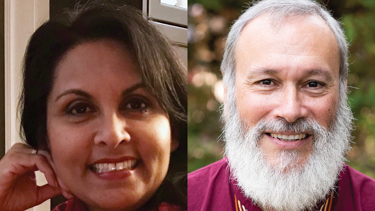 Jeanette Bissoon, left, is Mennonite World Conference's new chief operations officer. José Arrais, right, has been serving as regional representative for Europe since November. — Mennonite World Conference
