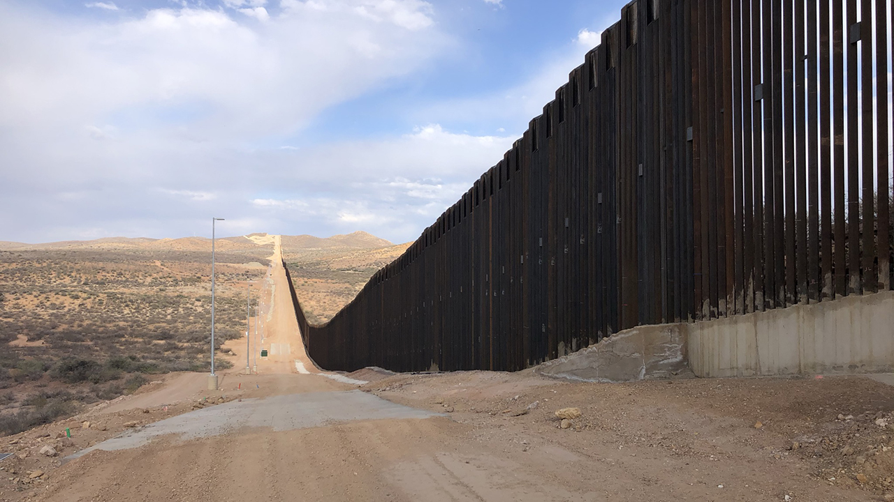 About one-third of the U.S.-Mexico border, just over 650 miles, has a vehicle or pedestrian barrier. This photo was taken about 30 miles east of Douglas, Ariz. — Ron Byler