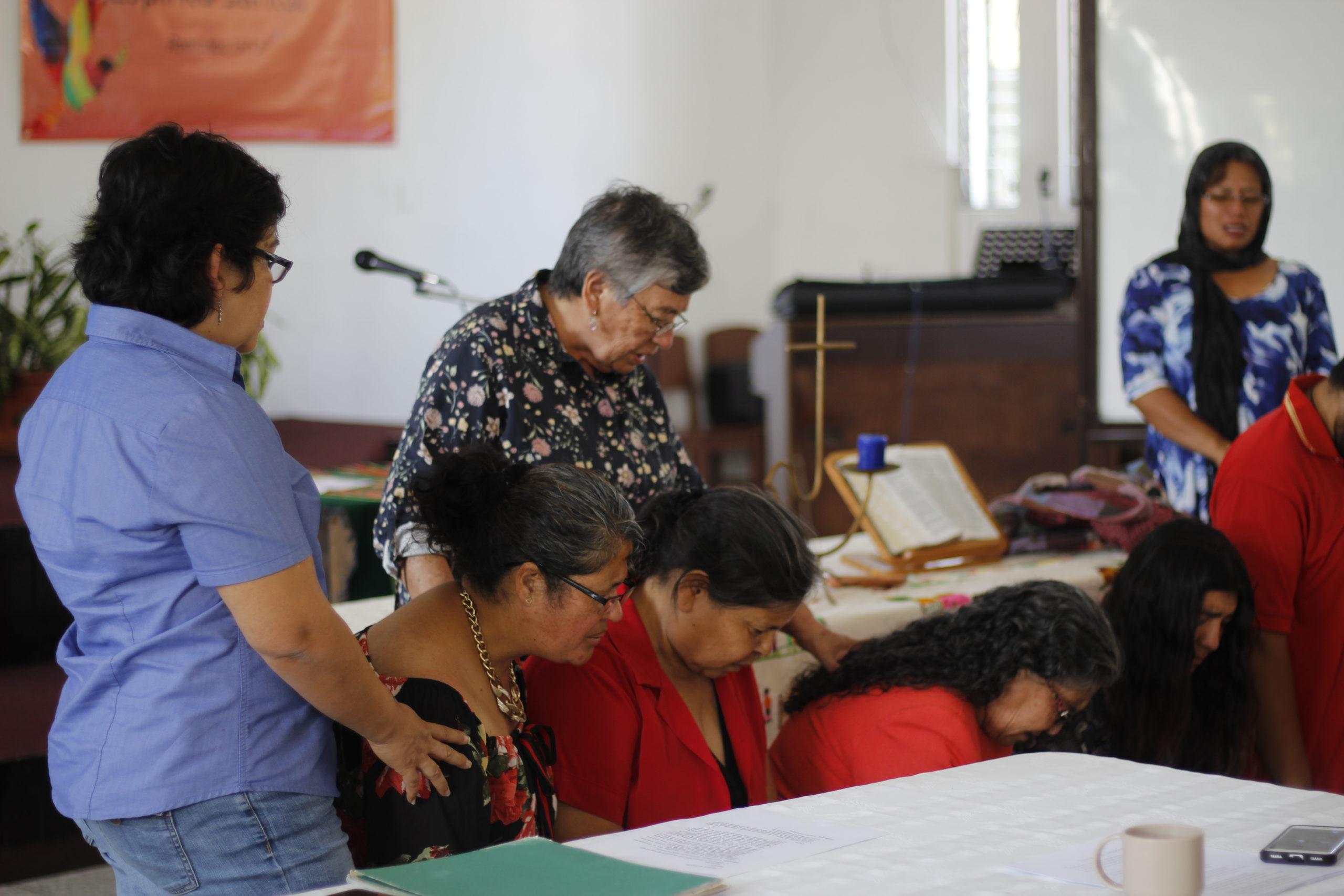 """Evento propuesto por las Mujeres Teólogas Anabautistas Latinoámericanas en el día de la oración, tema del año: """"Migración"""" tomada el 23 de Mayo de 2019. varias mujeres se unificaron en las instalaciones de Casa Horeb a compartir sus diversas historias de migración y orar unas por otras."""