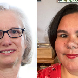 Sharon Yoder, left, and Joanne Gallardo have been named conference co-ministers of Indiana-Michigan Mennonite Conference of Mennonite Church USA. — Indiana-Michigan Mennonite Conference