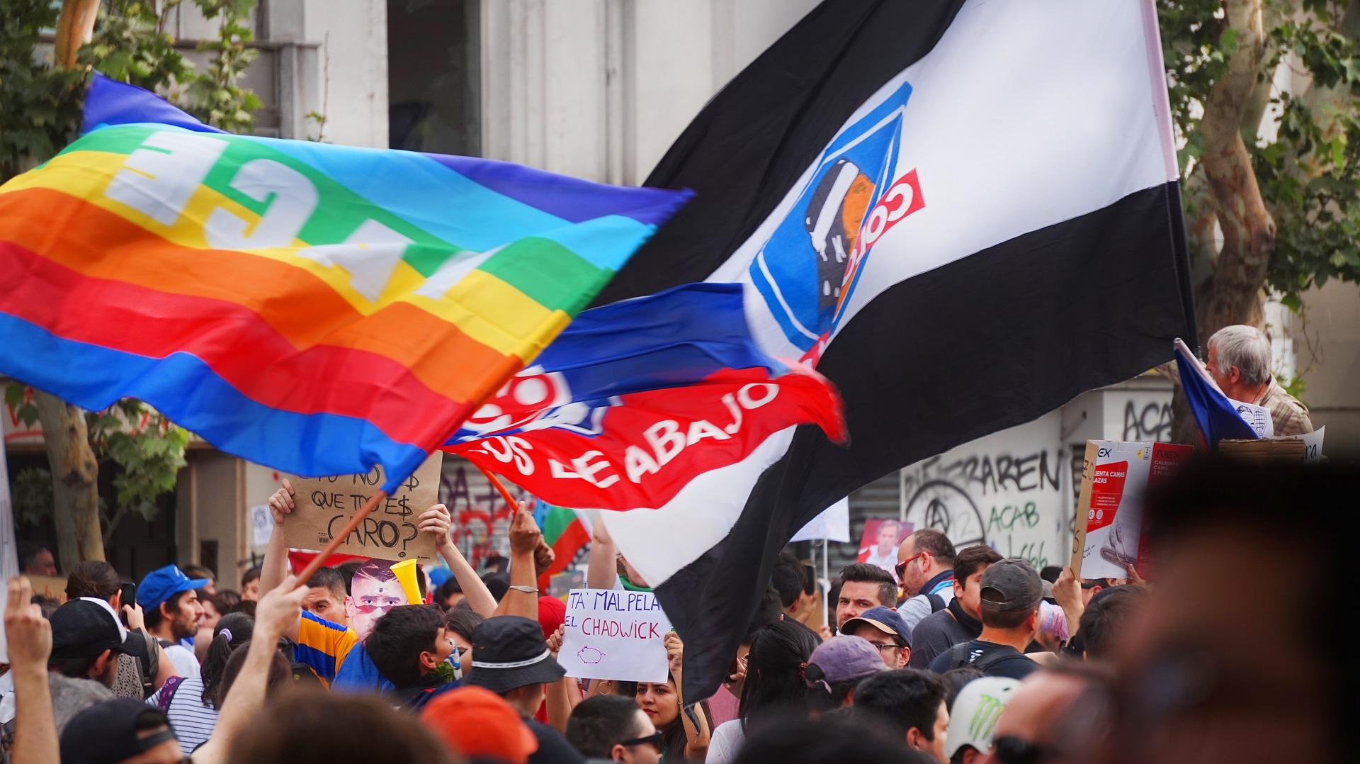 En el estallido social de 2019, las organizaciones que luchan por los derechos del colectivo LGBTQ estuvieron presentes en las calles.