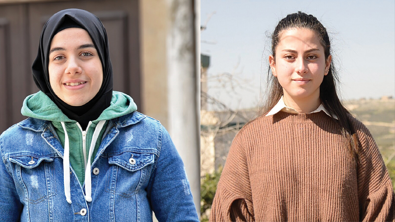 Two Lebanese young women — Rayan Dabagh, left, a Muslim, and Jessica Tawk, a Christian — were able to let go of prejudice against people with different religious beliefs through an MCC partner's peacebuilding project. — Mennonite Central Committee