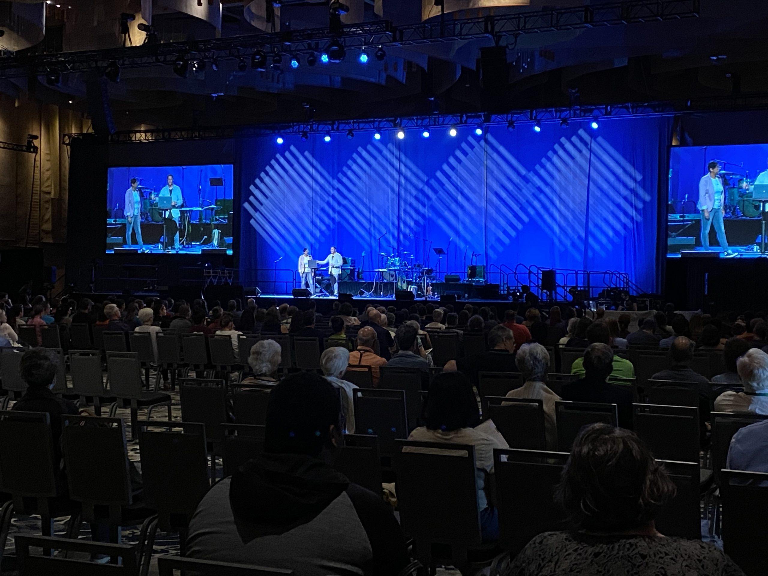 MennoCon21 first Worship evening. Speakers Pastor Lesley Francisco McClendon and Pasor Caleb McClendon of C3 - Calvary Community Church, Hampton, Virginia.