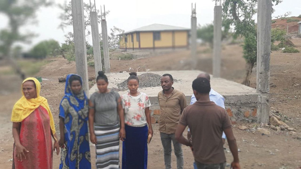 Only the foundation of the Meserete Kristos Church church-planting center in Dansha, Ethiopia, has been built due to a lack of income. Conflict since November severely limits activities. — Meserete Kristos Church