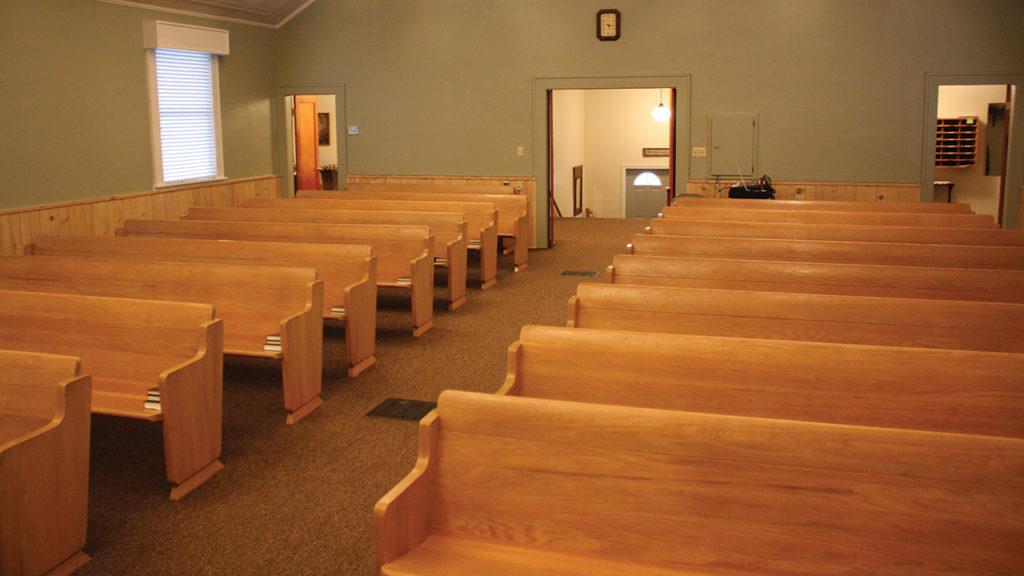 Filer Mennonite Church used the pews for at least 30 years. — Filer Mennonite Church