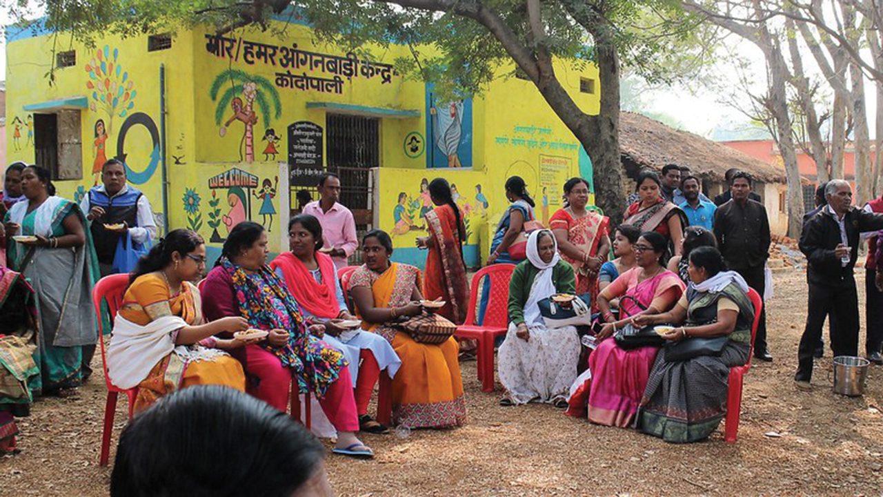 Worshippers gather at a Mennonite World Conference member church in rural India. — Henk Stenvers/MWC