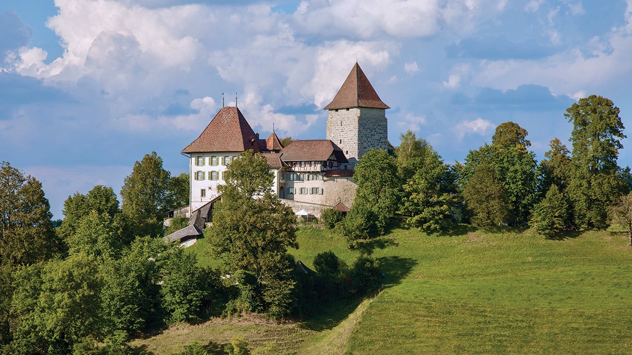 Trachselwald Castle is located in Switzerland's Emmental Valley, not far from the town of Sumiswald. — Üli Kipfer